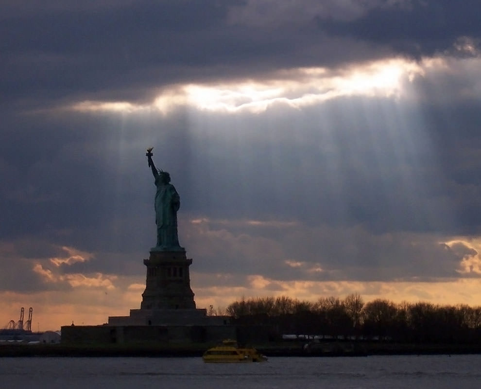 Statue of Liberty under cloud